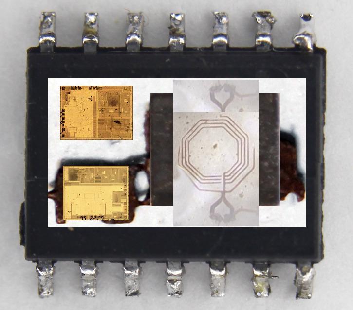 Вскрываем чип гальванической развязки с крохотным трансформатором внутри - 6