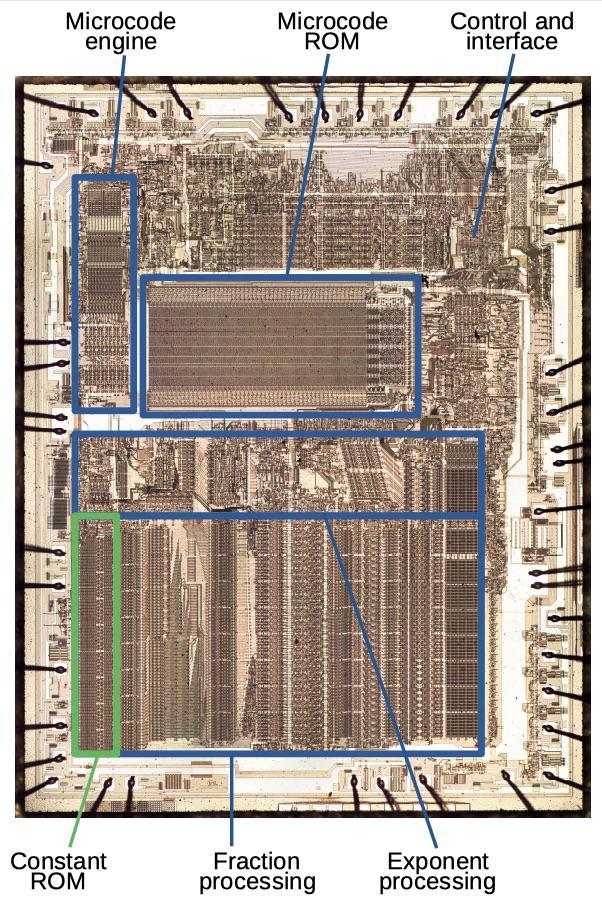 Извлекаем константы с кристалла математического сопроцессора 8087 - 1