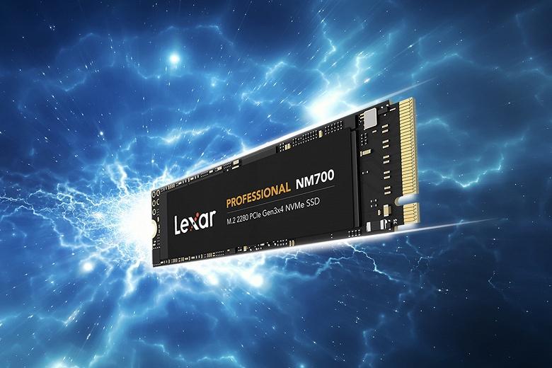 Твердотельные накопители Lexar Professional NM700 типоразмера M.2 2280 выпускаются объемом до 1 ТБ и стоят до 200 долларов