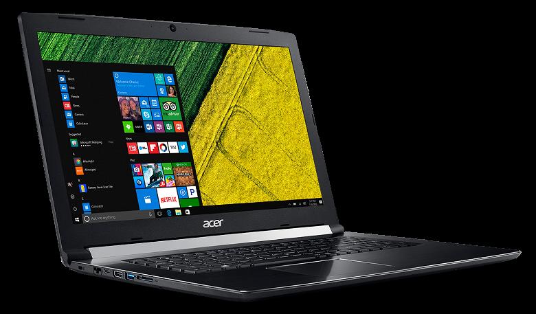 В России вышел обновленный ноутбук Acer Aspire 7