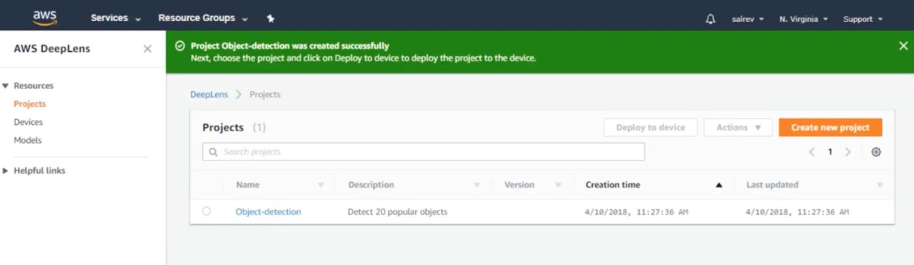 Камера Amazon DeepLens с глубоким обучением. Распаковка, подключение и развертывание проекта - 34