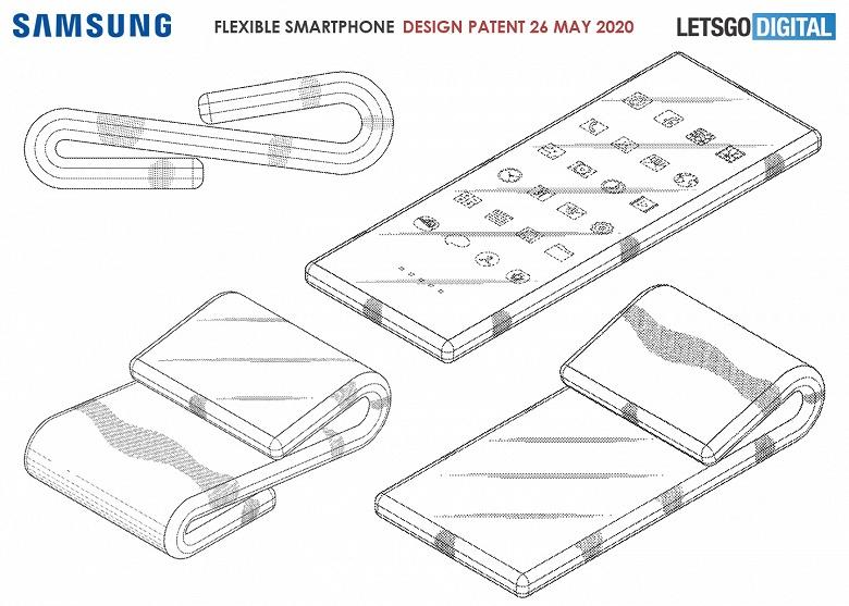 Смартфон-матрас — новый форм фактор от Samsung. Это лишь патент, но выглядит весьма занятно