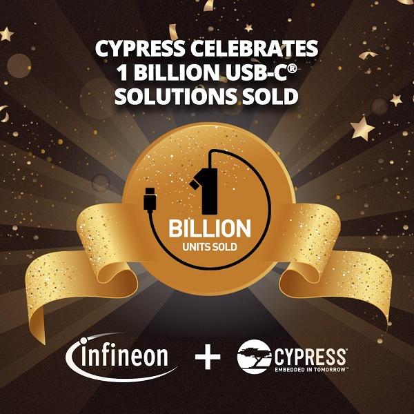 По подсчетам компании Cypress, она уже отгрузила миллиард изделий с поддержкой USB-C
