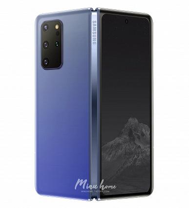 Новые данные — новый рендер. Дизайнер создал изображение Samsung Galaxy Fold 2 на основе свежей информации