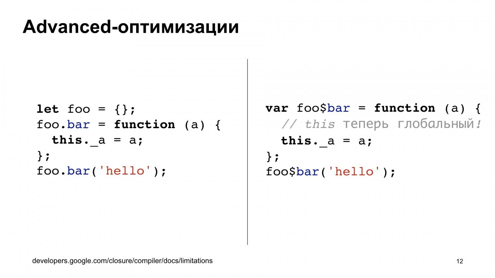 Минифицируем приватные поля в TypeScript. Доклад Яндекса - 12