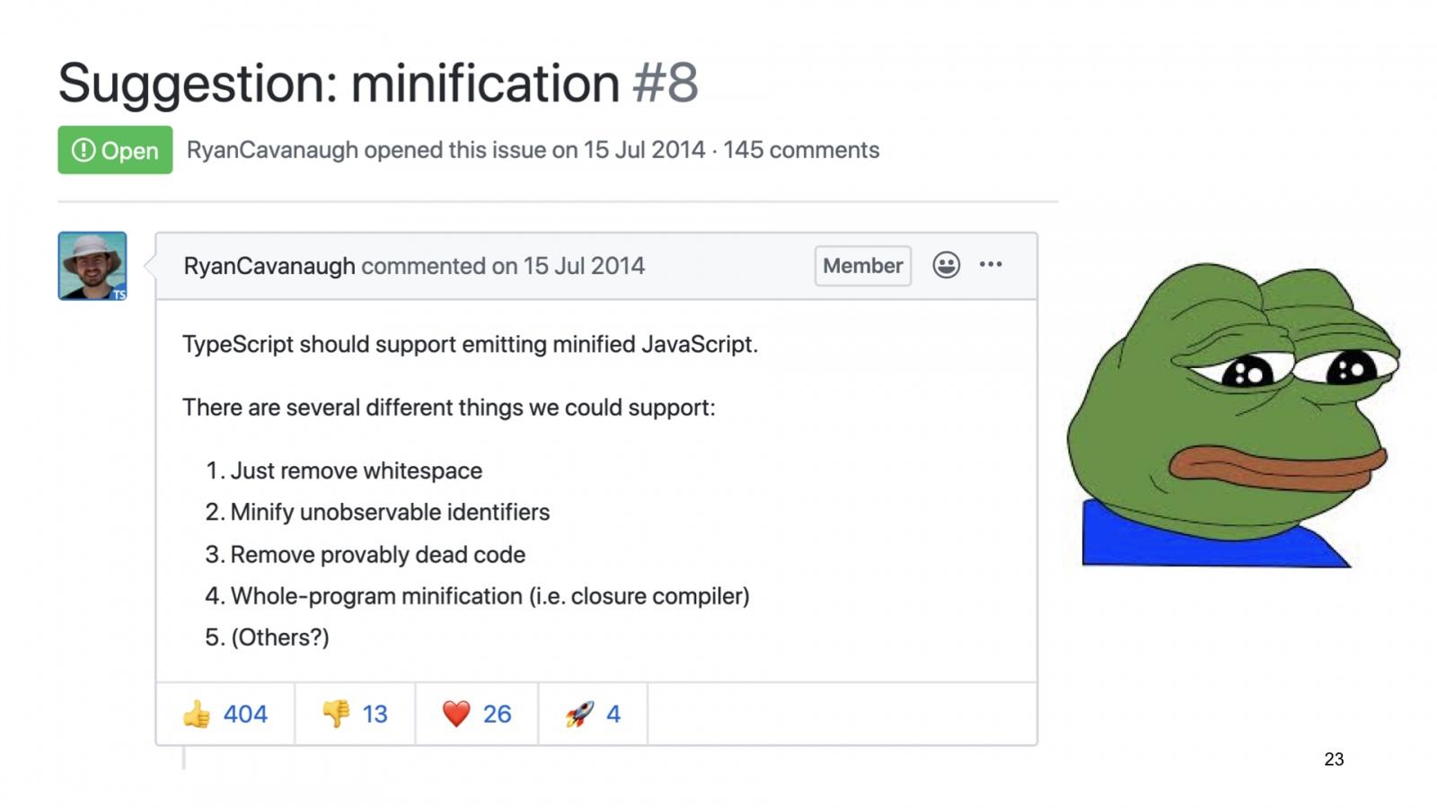 Минифицируем приватные поля в TypeScript. Доклад Яндекса - 23