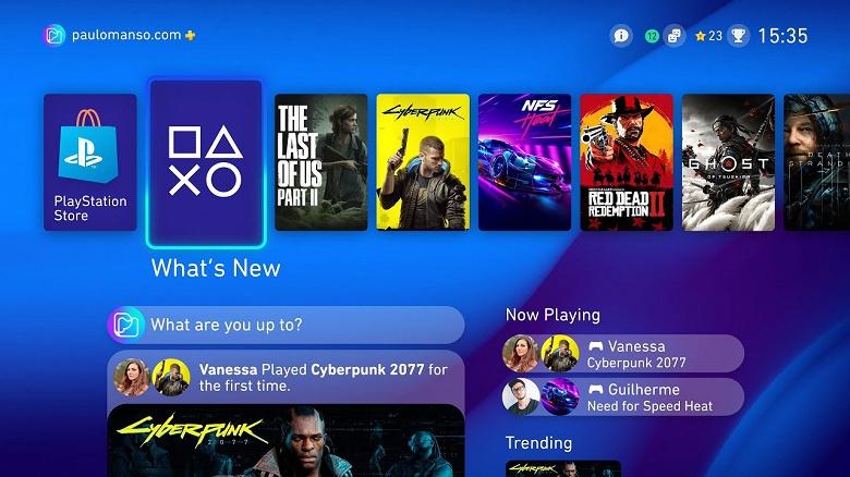 Sony PlayStation 5 получит на 100% новый интерфейс с новыми возможностями