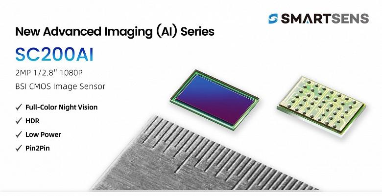 Датчик изображения SC200AI предназначен для камер видеонаблюдения