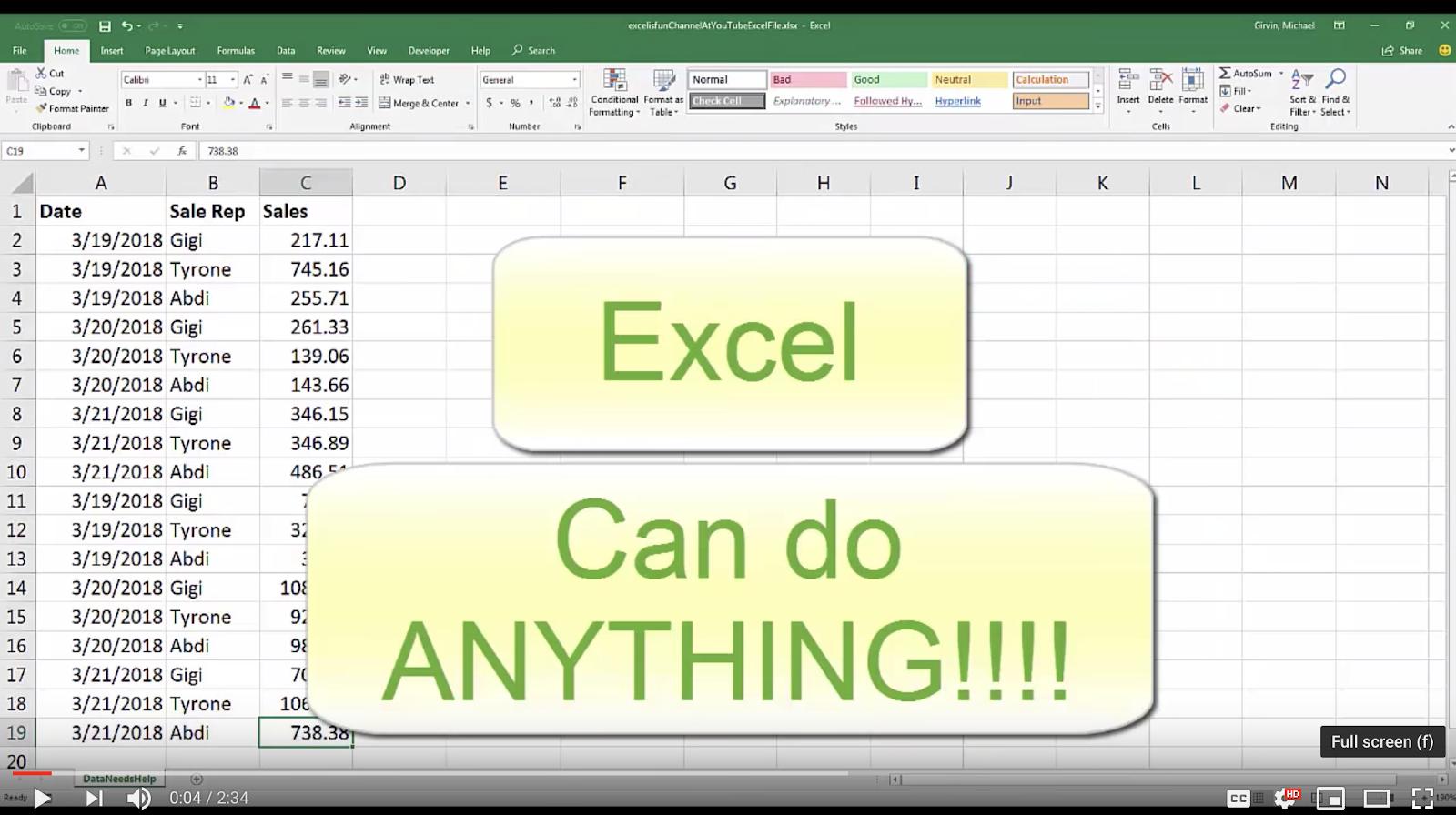 Ода Excel: 34 года волшебства - 1