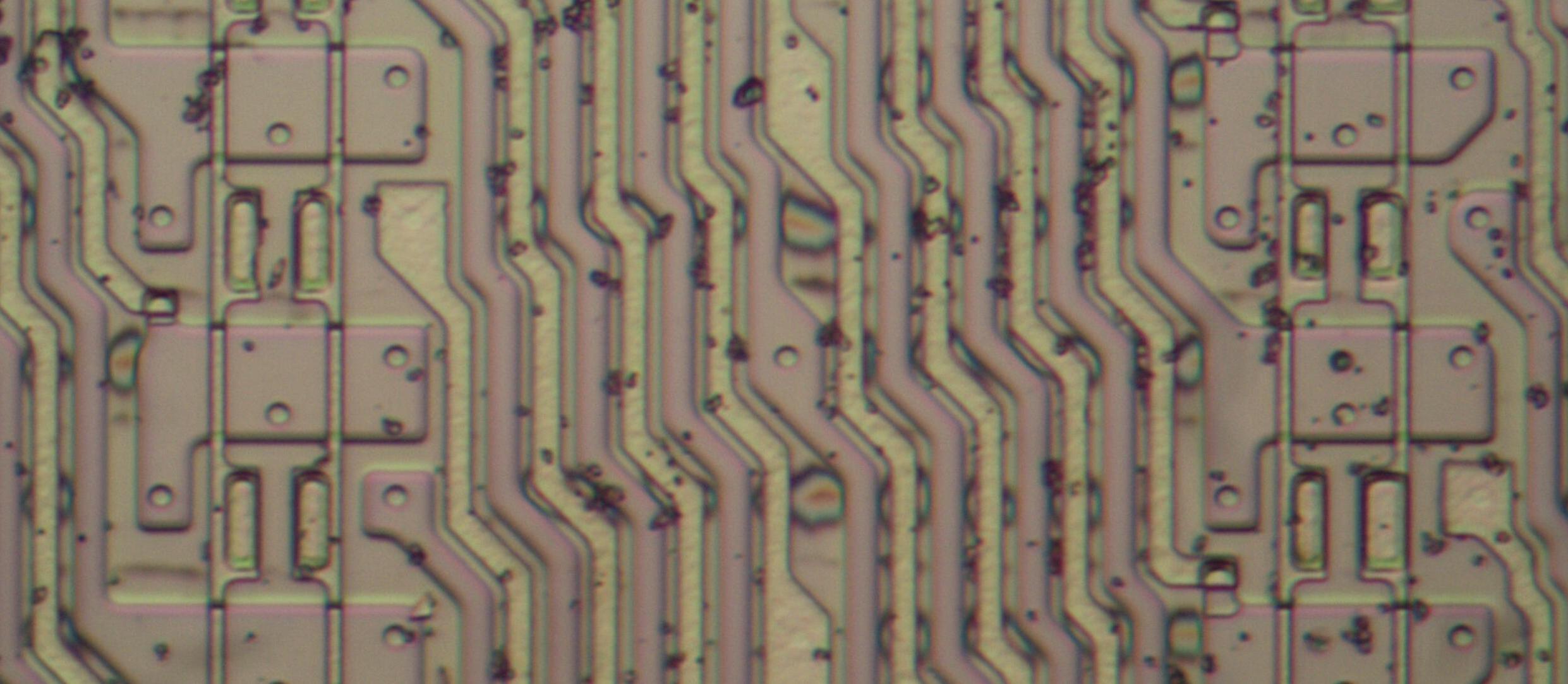 Анализ кристалла сдвигового регистра у математического сопроцессора 8087 - 8