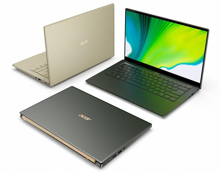 Диагональ 14 дюймов и масса до 1 кг. Представлен Acer Swift 5 SF514-55 – первый в мире ноутбук на платформе Intel Tiger Lake
