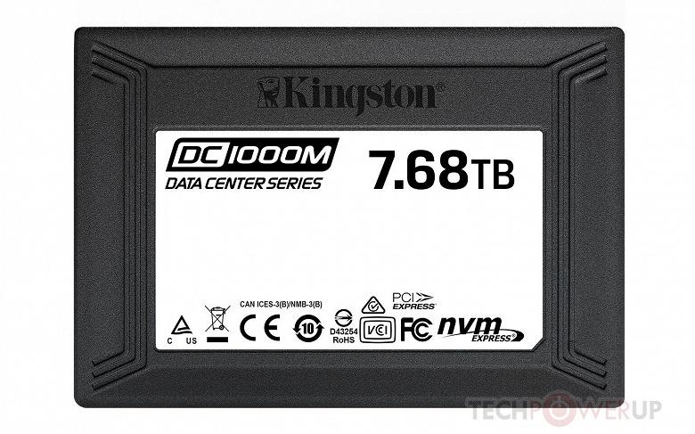 Начались поставки твердотельных накопителей Kingston DC1000M объемом 7,68 ТБ с интерфейсом PCIe