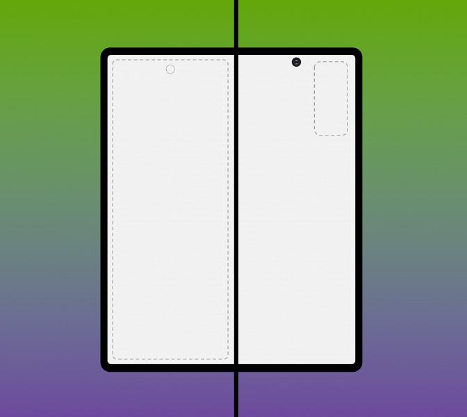 Samsung Galaxy Fold 2 удивляет на первый взгляд крайне странным расположением фронтальной камеры на свежем рендере