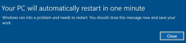 Критически важное обновление Windows 10 уводит ПК в принудительную перезагрузку