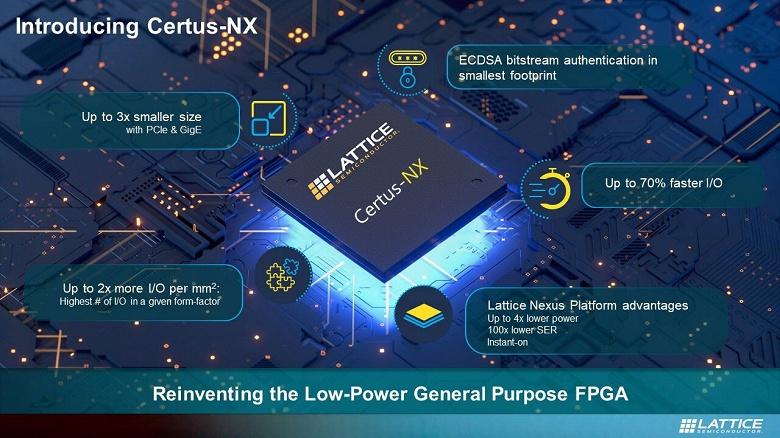 В семейство Certus-NX вошли FPGA общего назначения с пониженным энергопотреблением