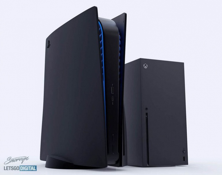 Как выглядит чёрная Sony PlayStation 5. В том числе в сравнении с Xbox Series X «бок о бок»