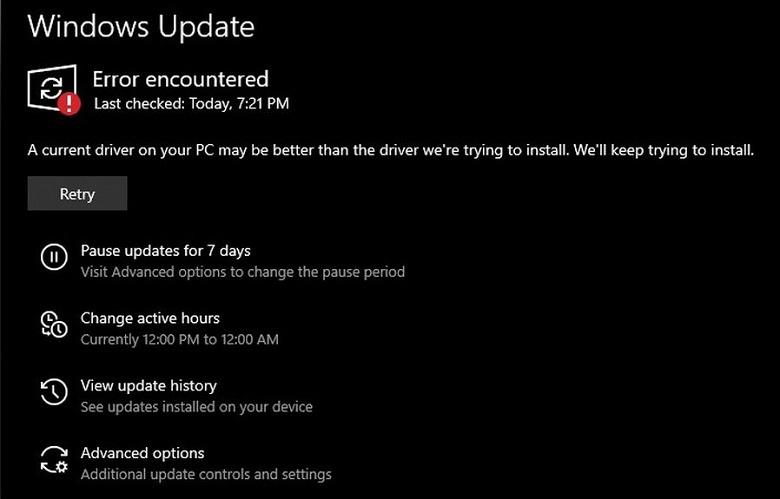Сбой Windows 10 приводит к бесконечной загрузке старых драйверов. Что делать
