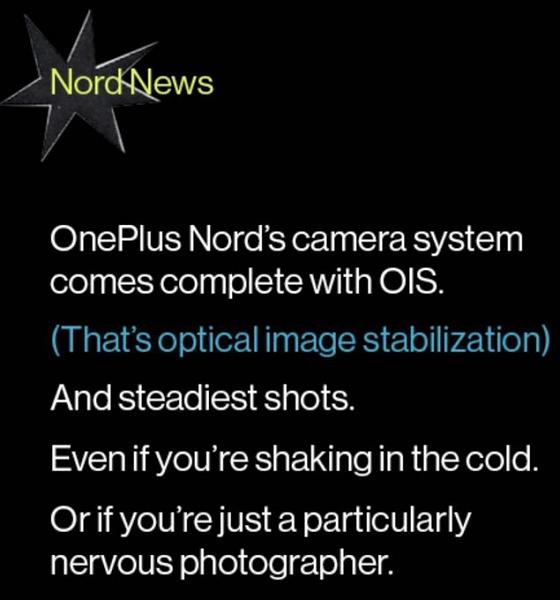OnePlus Nord может оказаться одним из лучших камерофонов в классе, потому что получит оптическую стабилизацию