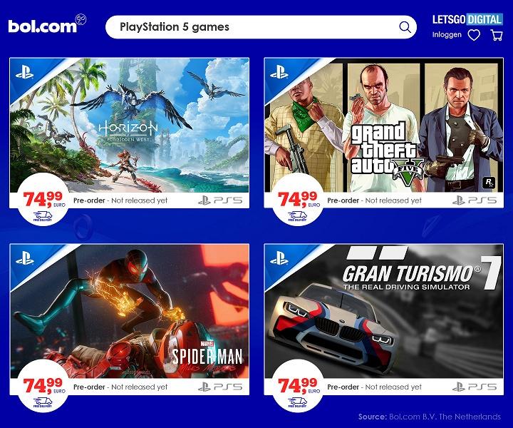 Игры для PlayStation 5 по 75 евро. Предзаказы уже стартовали