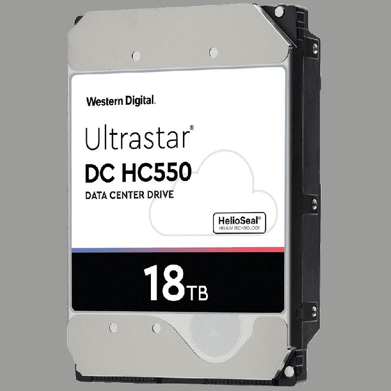 Western Digital начинает серийные поставки жестких дисков Ultrastar DC HC550 объемом 18 ТБ - 1