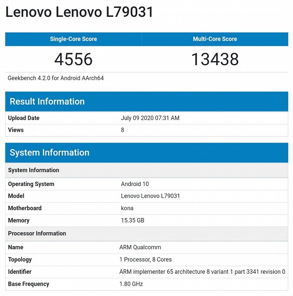 Возможности Snapdragon 865+ и 16 ГБ ОЗУ. В тесте засветился геймерский Lenovo Legion
