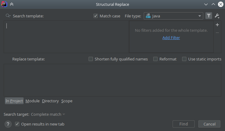 IntelliJ IDEA: Structural Search & Replace - 12