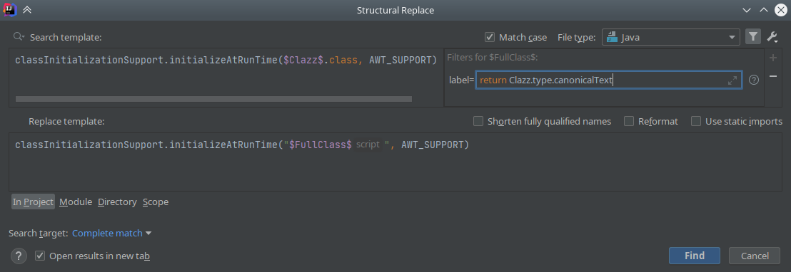 IntelliJ IDEA: Structural Search & Replace - 13