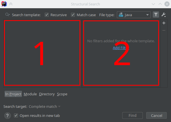 IntelliJ IDEA: Structural Search & Replace - 2