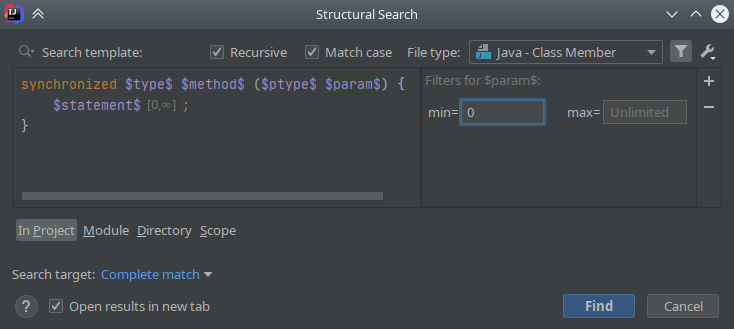 IntelliJ IDEA: Structural Search & Replace - 6