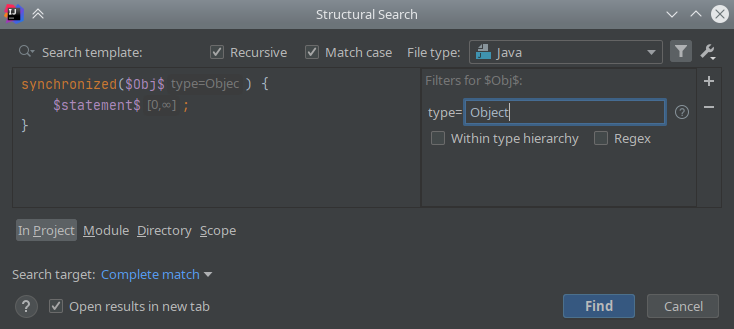 IntelliJ IDEA: Structural Search & Replace - 8