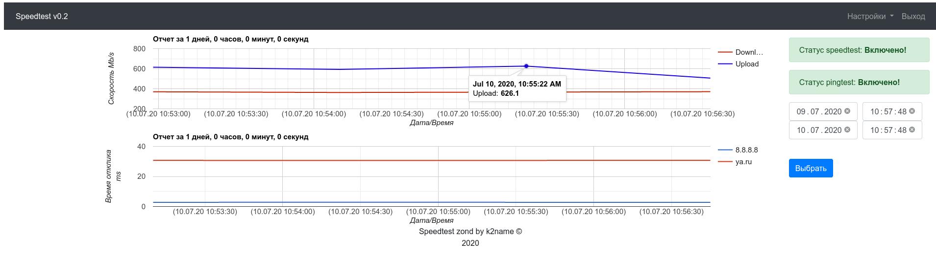 Разработка zond-а для замера скорости интернета - 4
