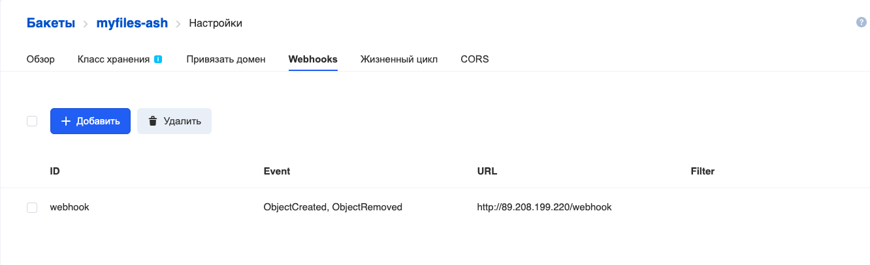 Пример event-driven приложения на основе вебхуков в объектном S3-хранилище Mail.ru Cloud Solutions - 5