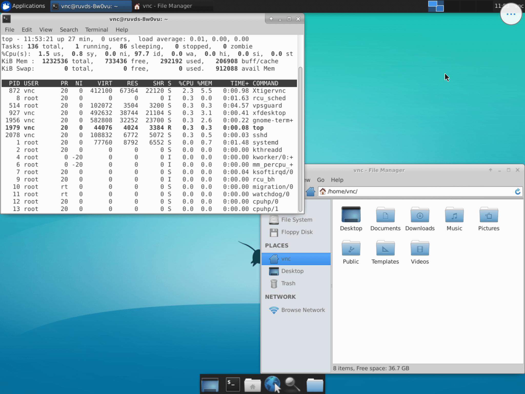 VPS на Linux с графическим интерфейсом: запускаем сервер VNC на Ubuntu 18.04 - 8