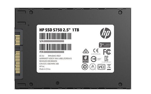 Твердотельные накопители HP S750 оснащены интерфейсом SATA