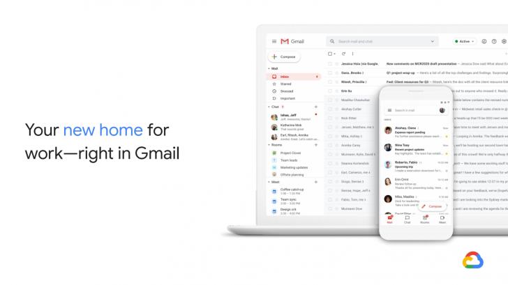 Полностью новый Gmail сделает работу из дома удобной