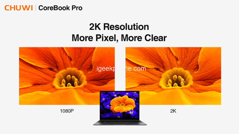 Представлен ноутбук Chuwi Corebook Pro со 100-процентным охватом цветового пространства sRGB