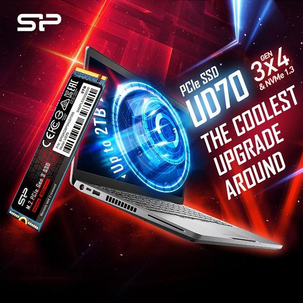 Твердотельный накопитель Silicon Power UD70 оснащен интерфейсом PCIe Gen3 x4