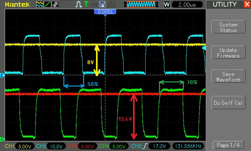 Диаграмма с осциллографа