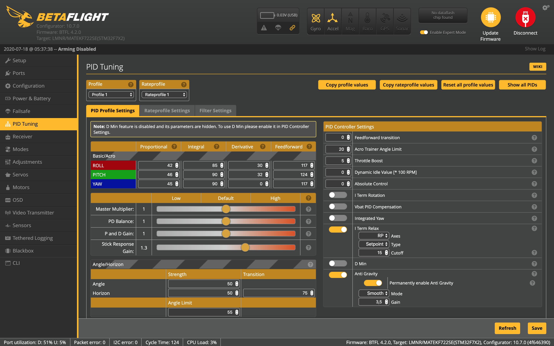 FPV Квадрокоптер: Фильтрация в Betaflight - 3