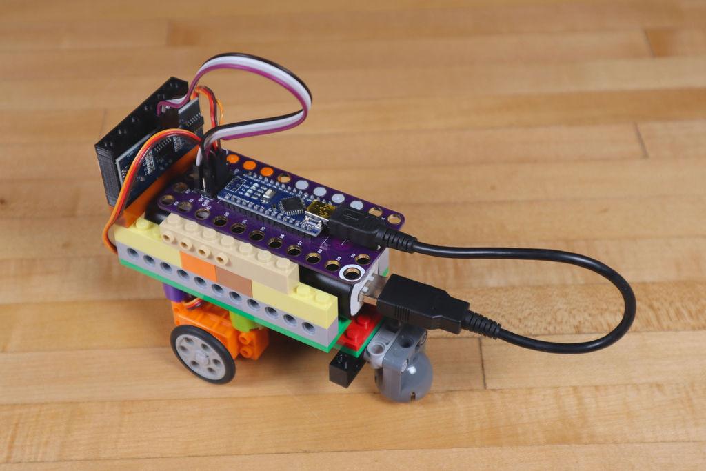 Робот из LEGO и Arduino, обходящий препятствия - 28