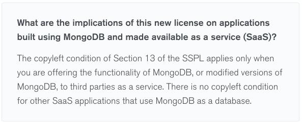 Чем для вас опасна MongoDB SSPL лицензия? - 1