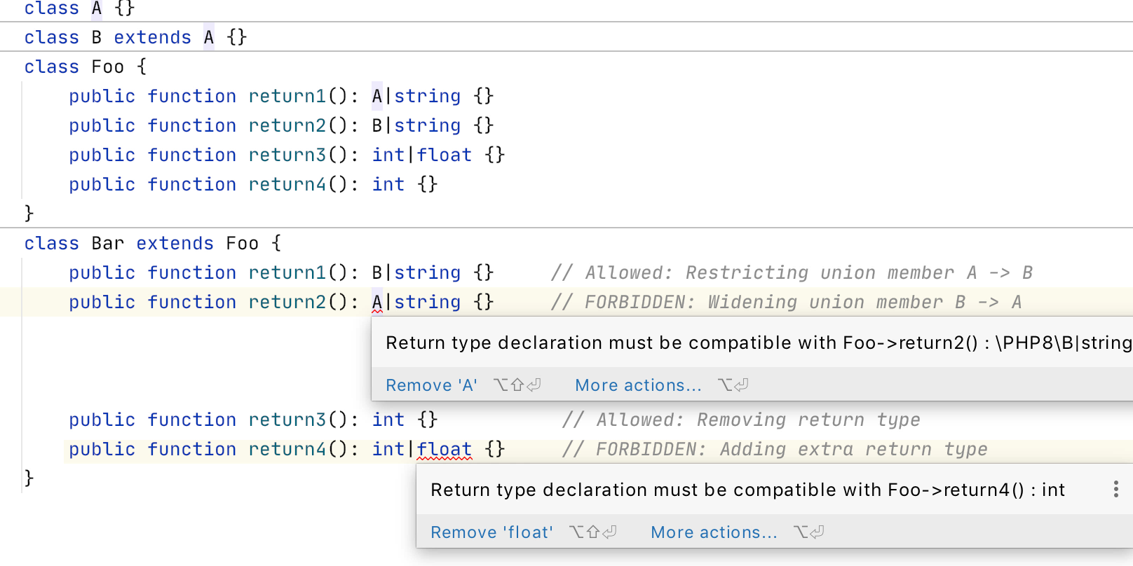 PhpStorm 2020.2: объединенные типы PHP 8, новый движок потока управления, пул-реквесты GitHub, OpenAPI - 11