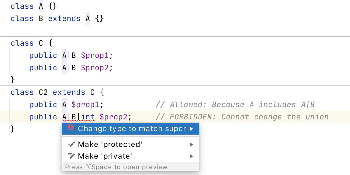 PhpStorm 2020.2: объединенные типы PHP 8, новый движок потока управления, пул-реквесты GitHub, OpenAPI - 12