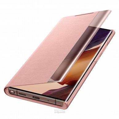Samsung Galaxy Note20 в фирменных чехлах на официальных изображениях