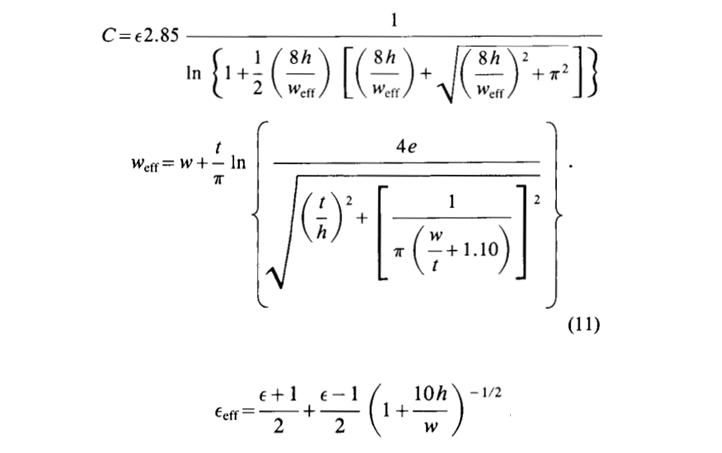 SamsPcbGuide, часть 15: Волновое сопротивление микрополосковой линии, Гарольд Уилер и Эрик Богатин - 13