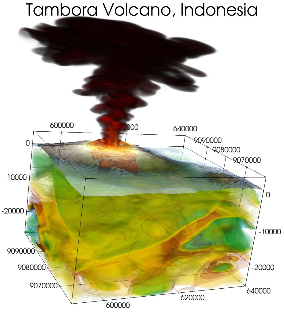 Tambora Volcano Plume Simulation