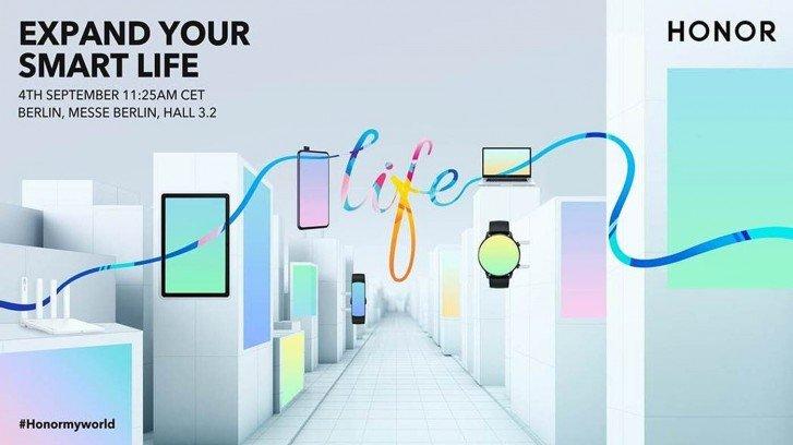 Honor покажет часы, смартфон, планшет и ноутбук на IFA 2020