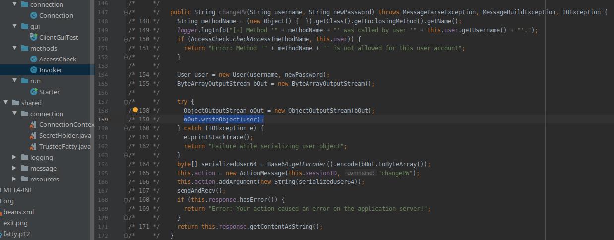 HackTheBox. Прохождение Fatty. Реверс и рекомпиляция клиент-серверного приложения. Java десериализация - 46