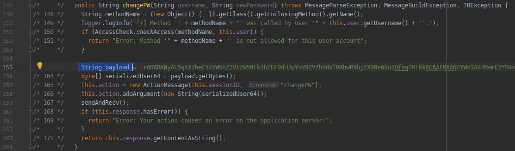 HackTheBox. Прохождение Fatty. Реверс и рекомпиляция клиент-серверного приложения. Java десериализация - 52