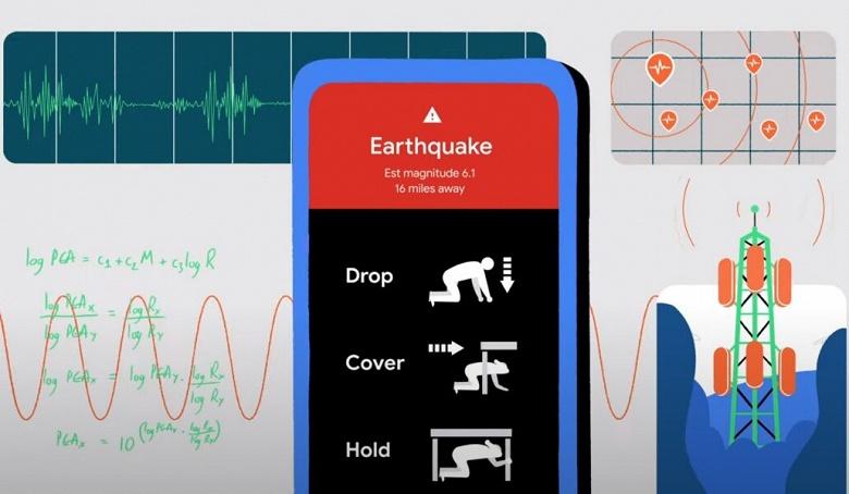 Google превращает смартфоны с Android в сеть для обнаружения землетрясений и раннего оповещения о них